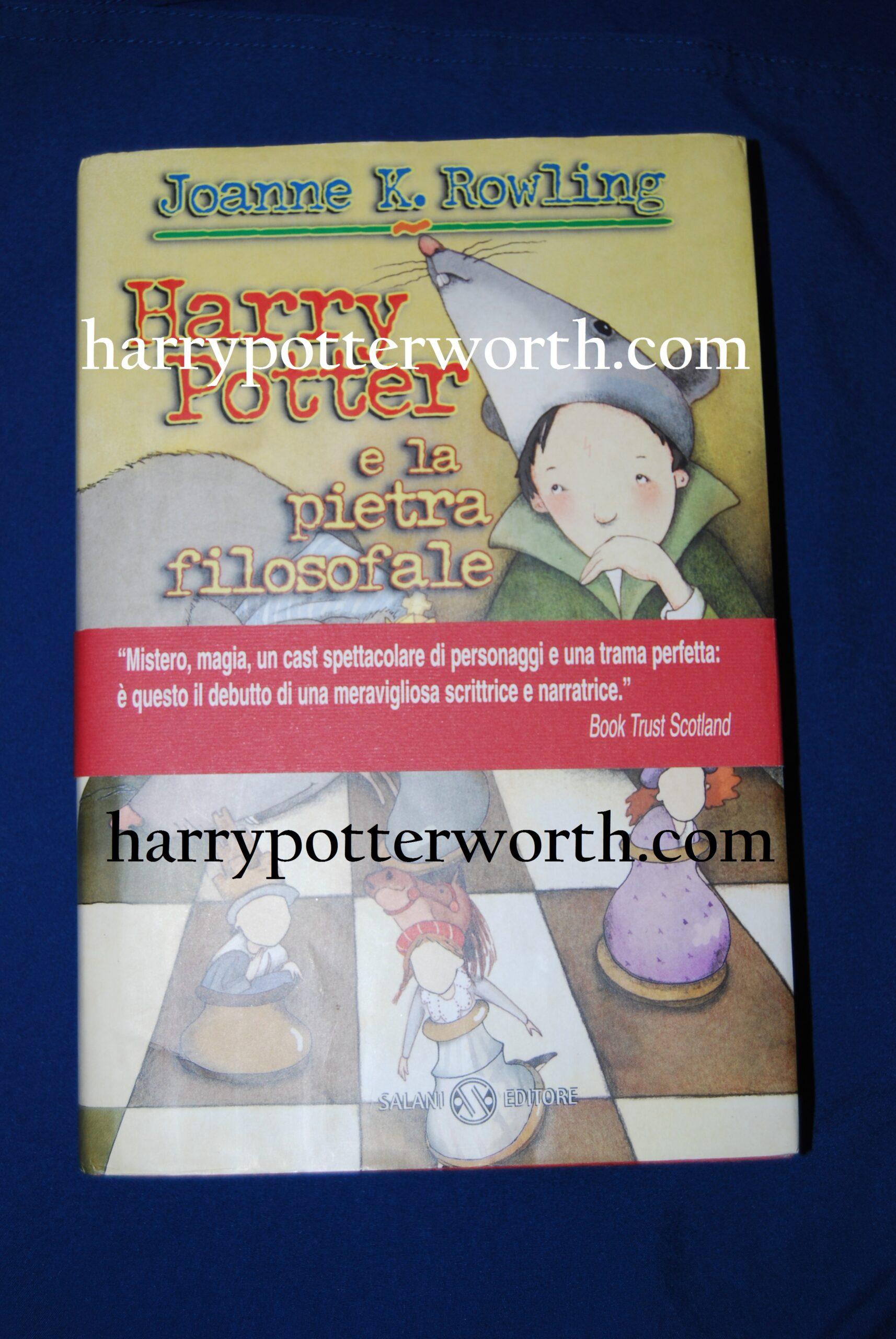 Harry Potter e La Pietra Filosofale Prima Edizione Salani Senza Occhiali 1998
