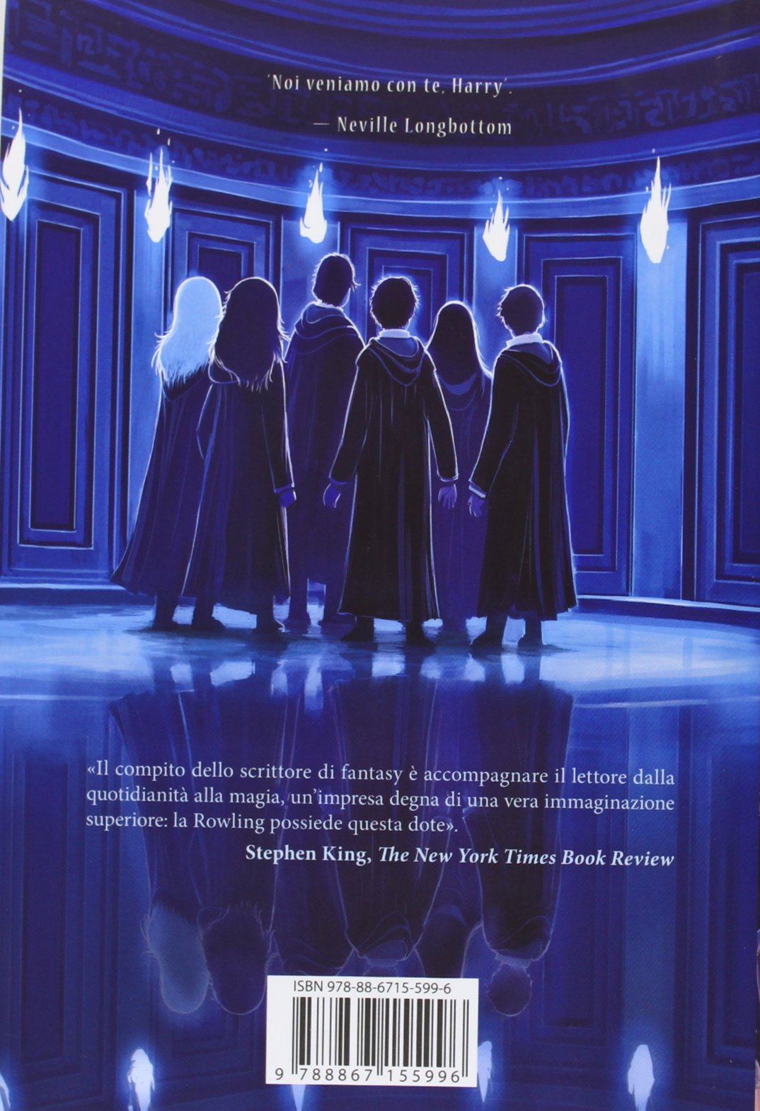 Harry Potter and the Order of the Phoenix Castle Ediotion 2013 - Back Italian Cover