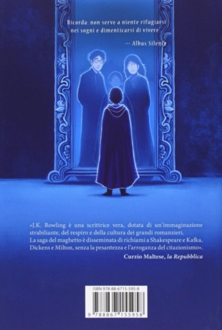 Harry Potter and the Philosopher's Stone Castle Ediotion 2013 – Back Italian Cover