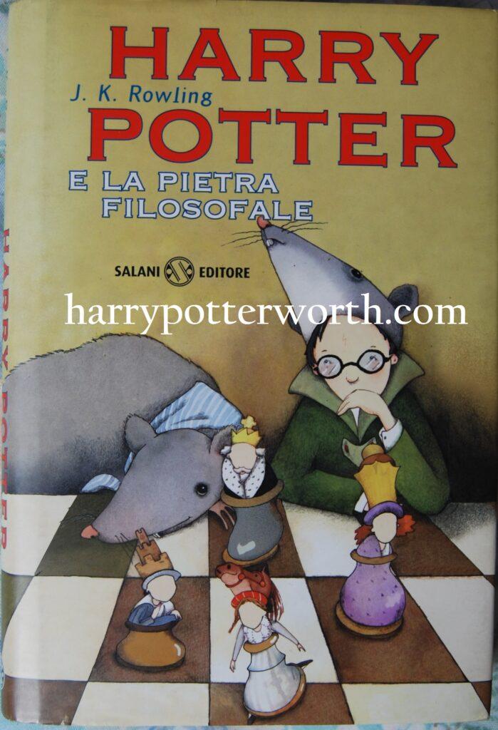 Libro Harry Potter e La Pietra Filosofale Prima Edizione Salani 1998 - Seconda Versione Copertina Con Occhiali