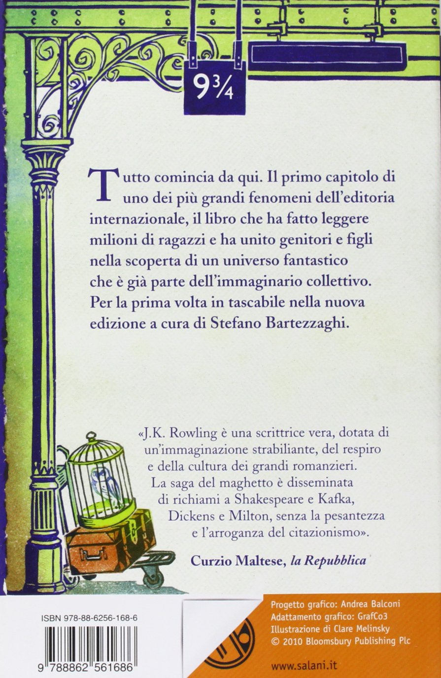 Harry Potter e La Pietra Filosofale Retro Edizione 2011 Clare Melinsky tascabile economica