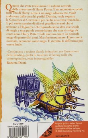 Harry Potter e il Calice di Fuoco Retro Edizione 2011 Clare Melinsky tascabile economica