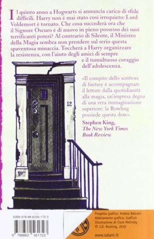 Harry Potter e l'Ordine della Fenice Retro Edizione 2011 Clare Melinsky tascabile economica