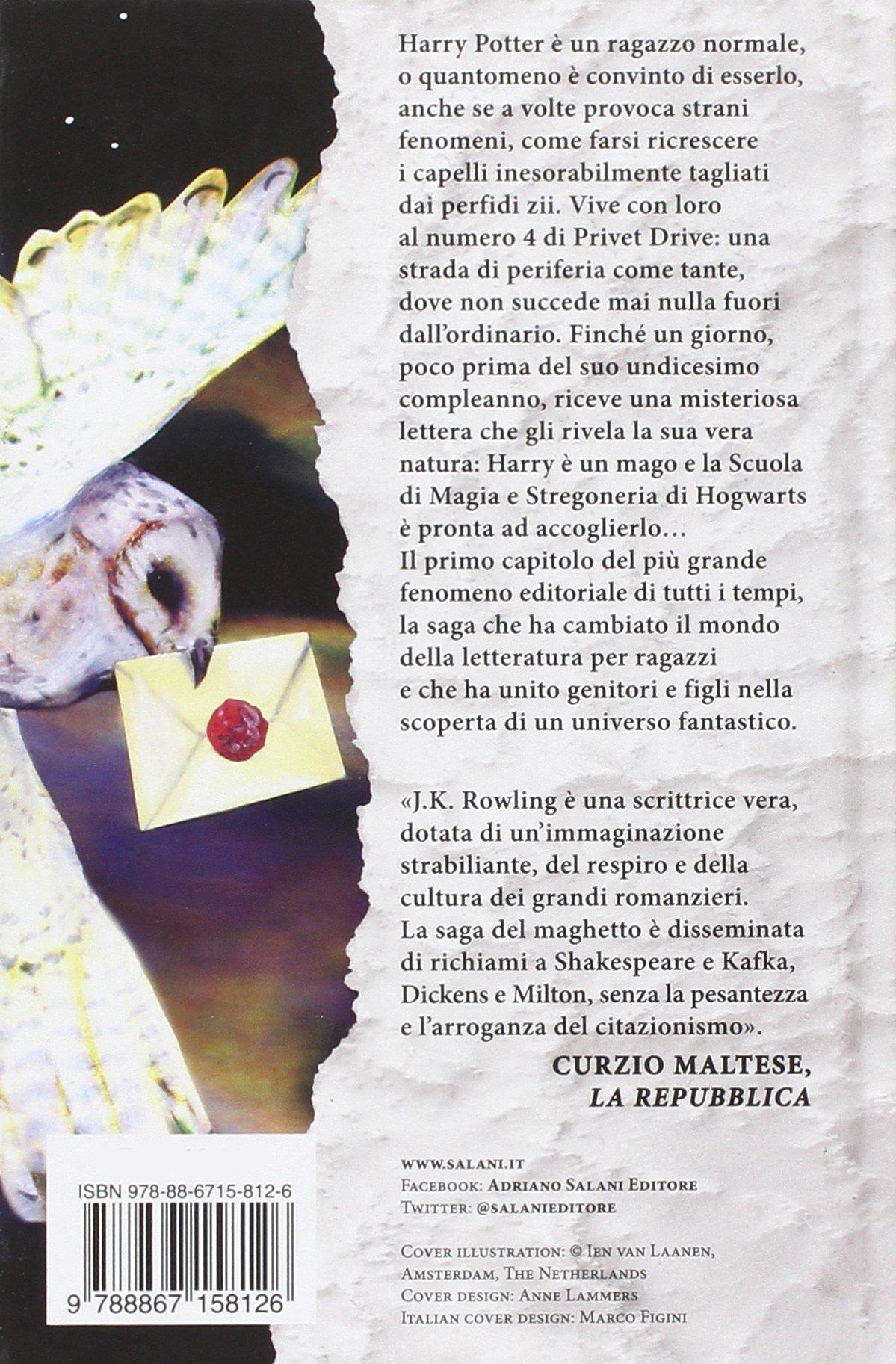 Harry Potter e la Pietra Filosofale Edizione 2014 Illustrazioni Ien van Laanen -Retro