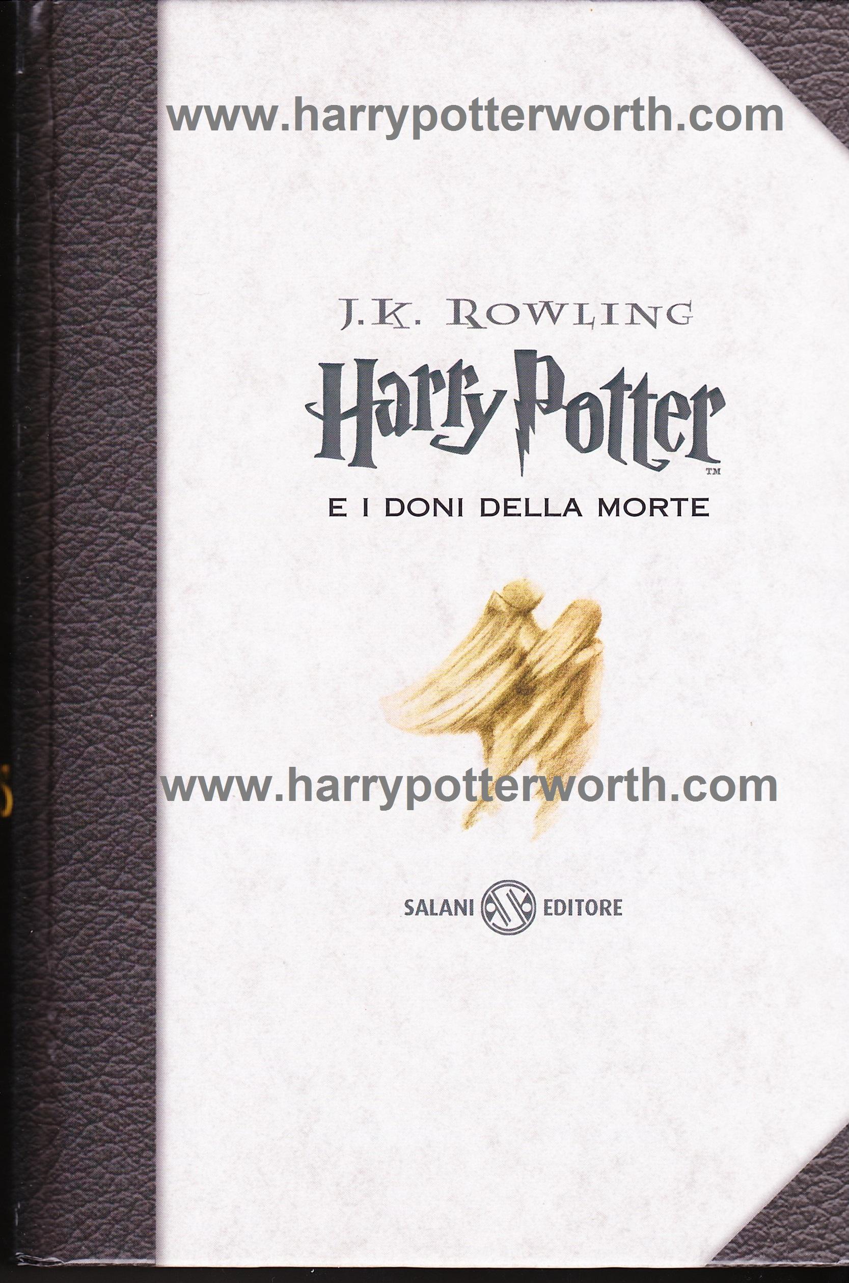 Harry Potter e i Doni della Morte Edizione Motto Hogwarts 2007 - Fronte