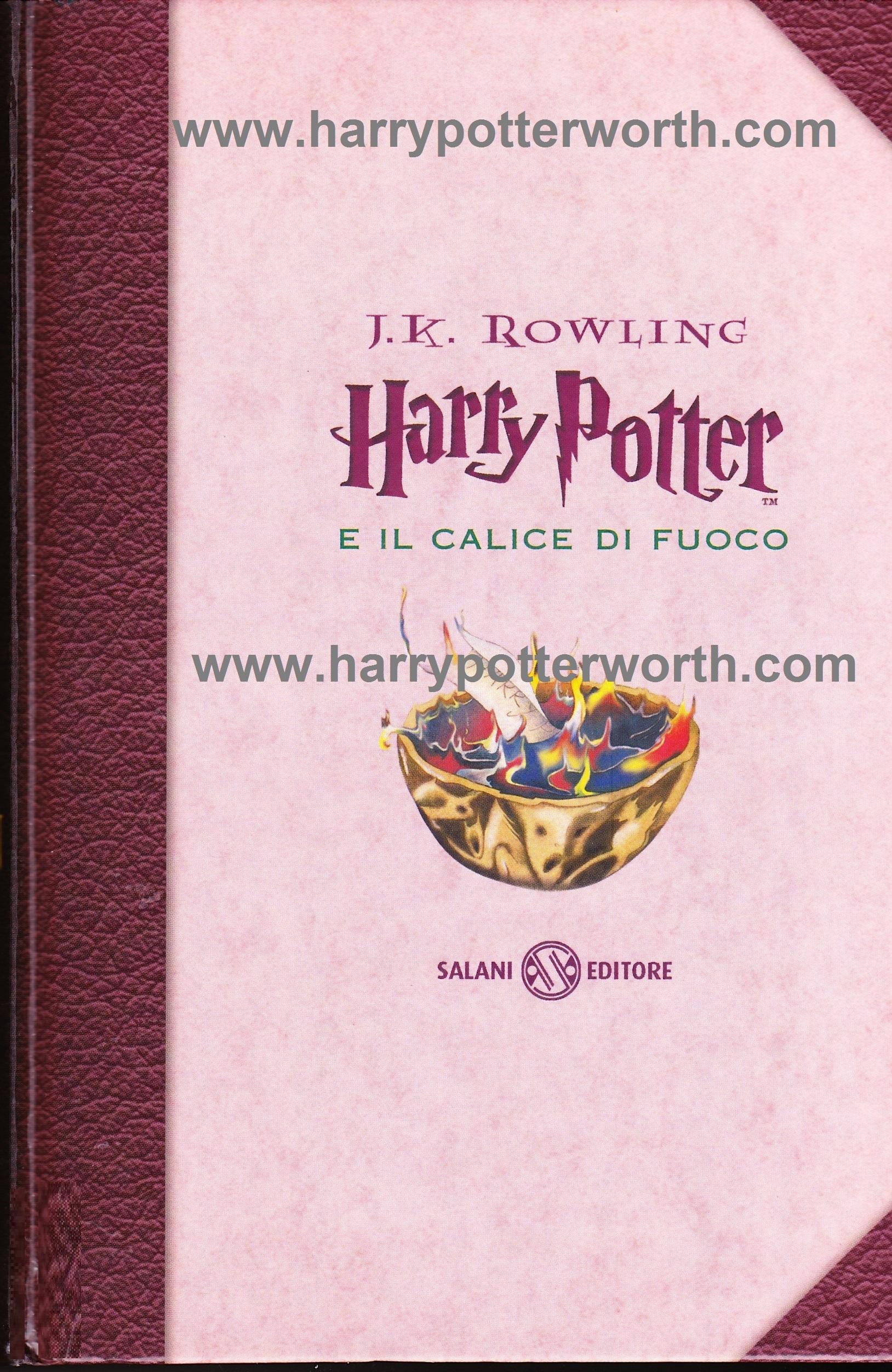 Harry Potter e il Calice di Fuoco Edizione Motto Hogwarts 2007 - Fronte