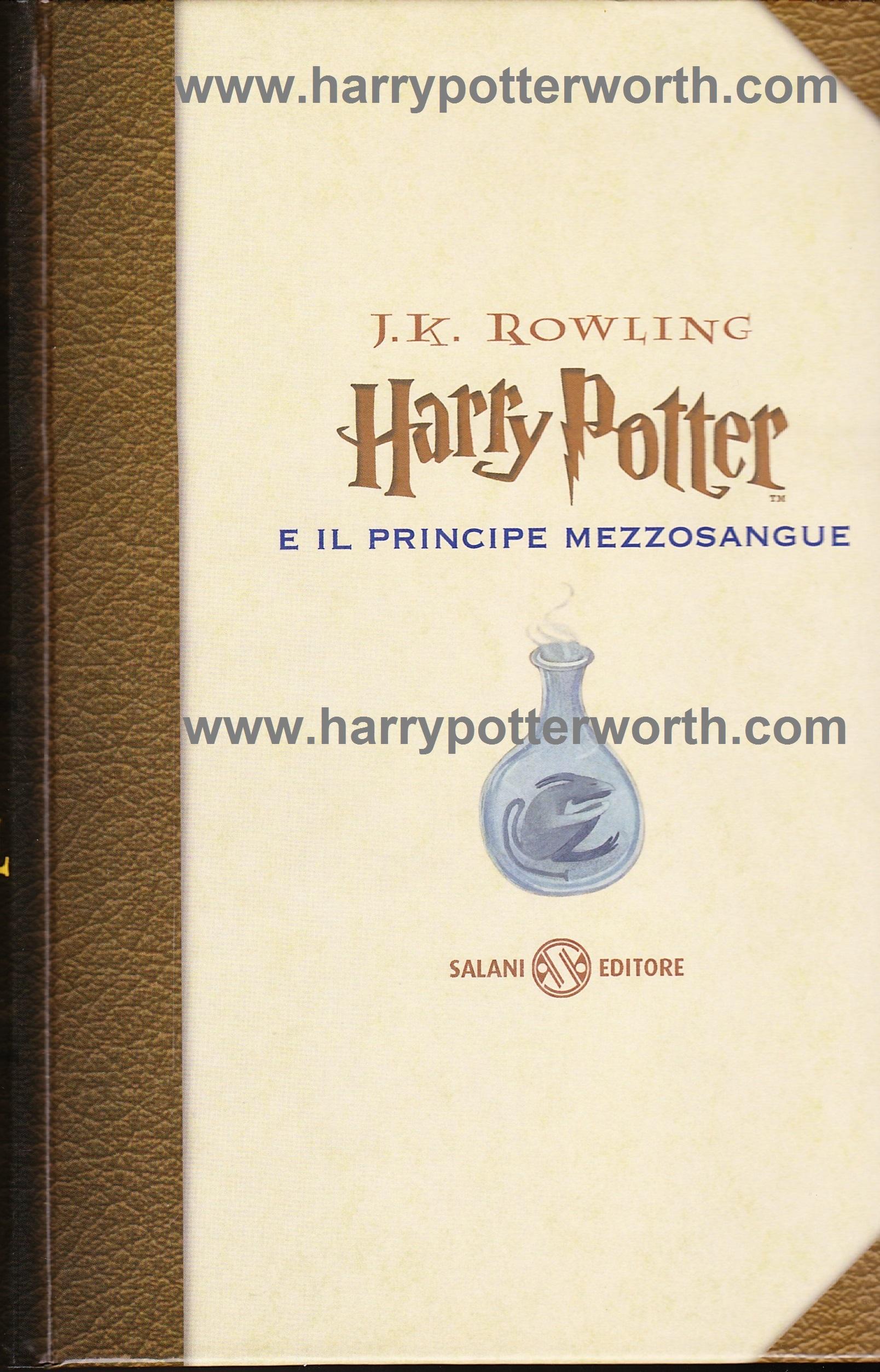 Harry Potter e il Principe Mezzosangue Edizione Motto Hogwarts 2007 - Fronte