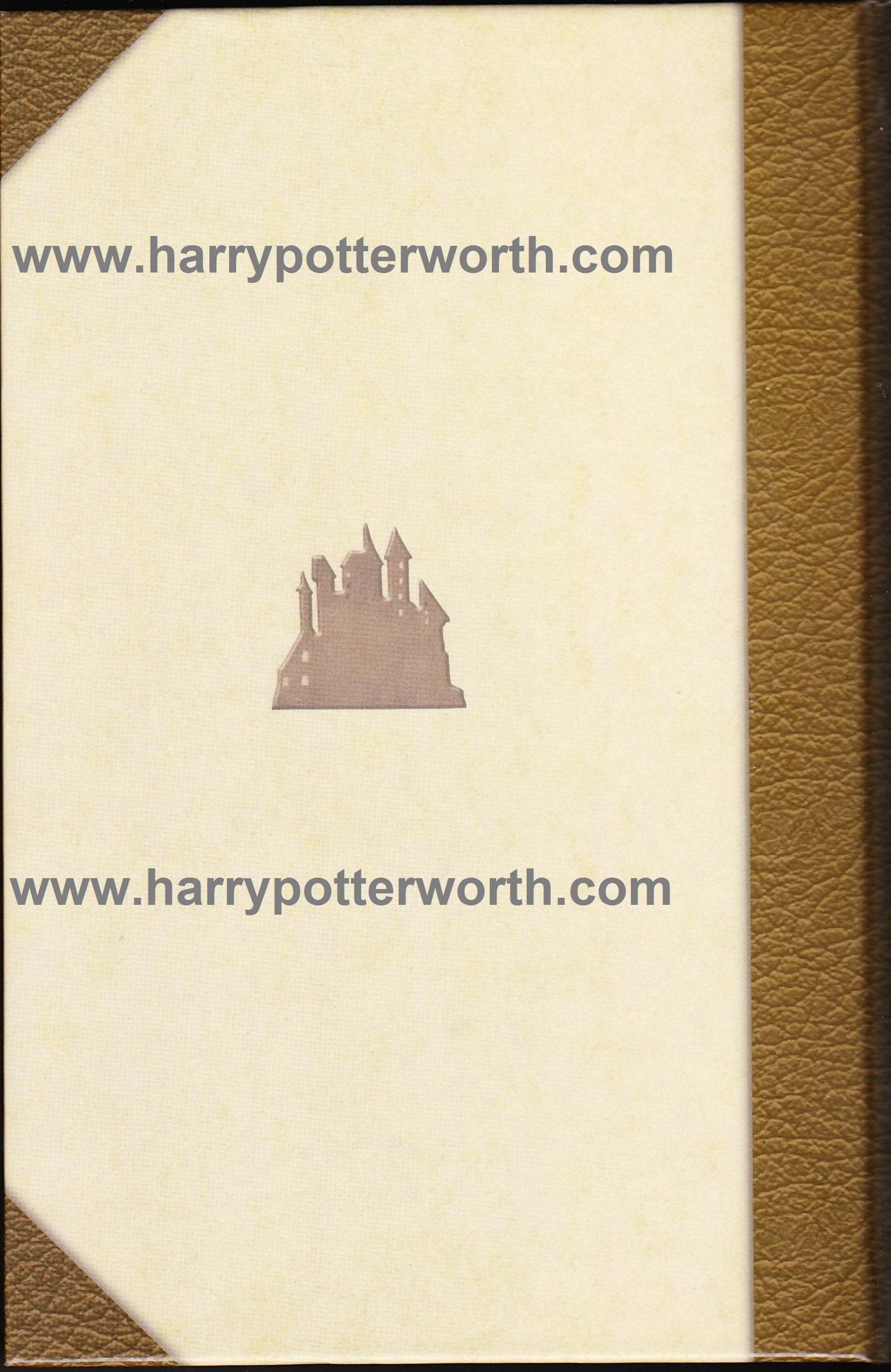 Harry Potter e il Principe Mezzosangue Edizione Motto Hogwarts 2007 - Retro