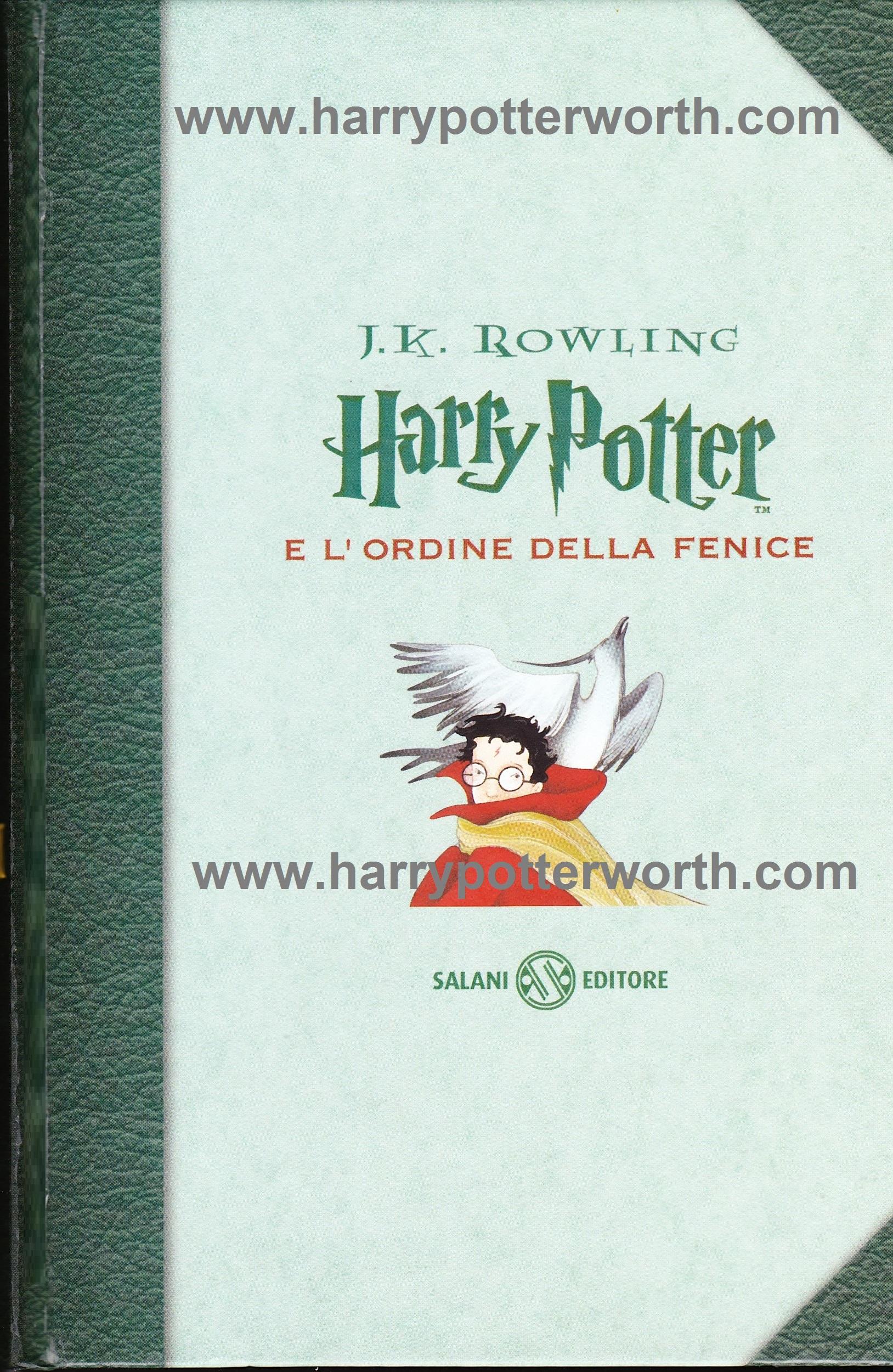 Harry Potter e l'Ordine della Fenice Edizione Motto Hogwarts 2007 - Fronte
