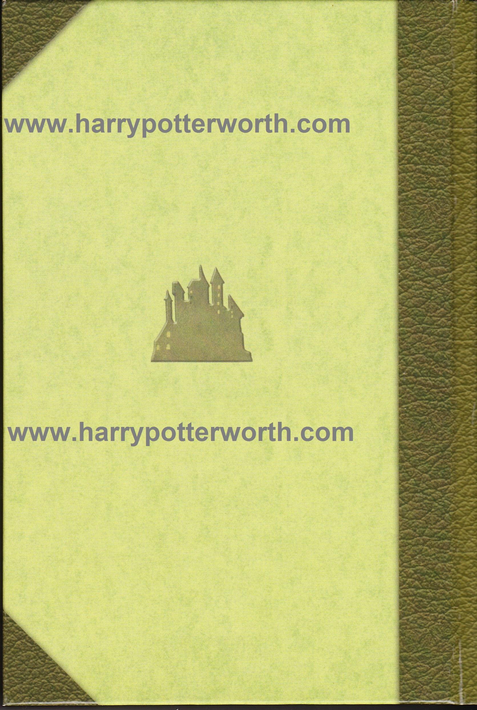 Harry Potter e la Pietra Filosofale Edizione Motto Hogwarts 2007 - Retro