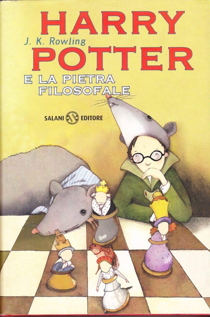 Harry Potter e la Pietra Filosofale Prima Edizione vecchio font grafico