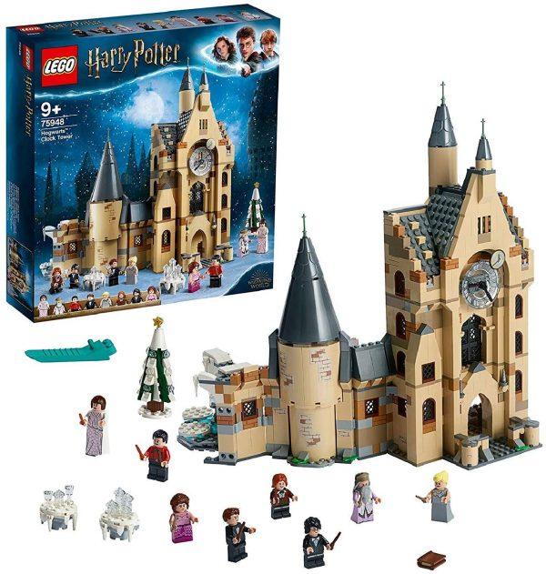 LEGO Harry Potter La Torre dell'Orologio di Hogwarts, Giocattolo Compatibile con i Playset della Sala Grande e il Platano Picchiatore, 75948